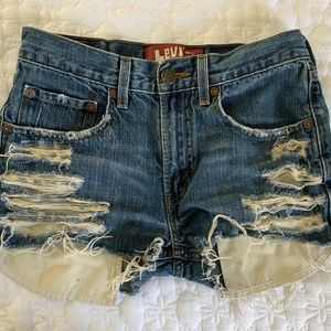 Levi's 514 Slim Straight High-Waisted Shorts